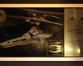 Battlestar Galactica Viper MK II Limited Edition Geekograph Metal Art
