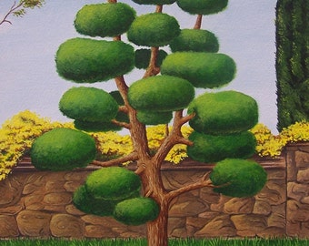Funny Tree Art Print from an original painting