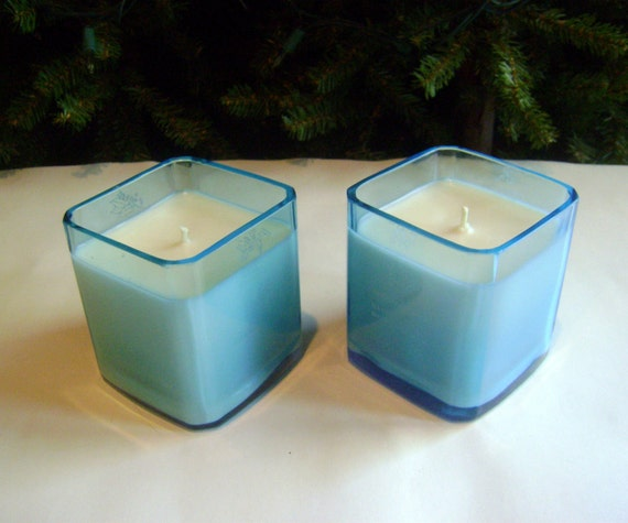Soy Candles in ReCycled Bombay Sapphire Gin Bottles 2-10 oz candles