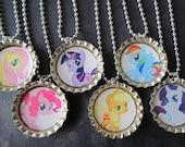My Little Pony  Bottle Cap Party favors (6)