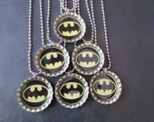 Batman Bat Signal (also available in Pink)  Bottle Cap Party favors (6)  add on more for 2 dollars each