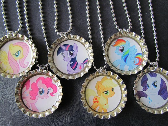My Little Pony  Bottle Cap Party favors (6) / add more for 2 dollars each