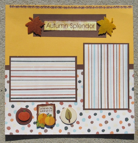 Autumn Scrapbook Pages - Premade - Autumn Splendor