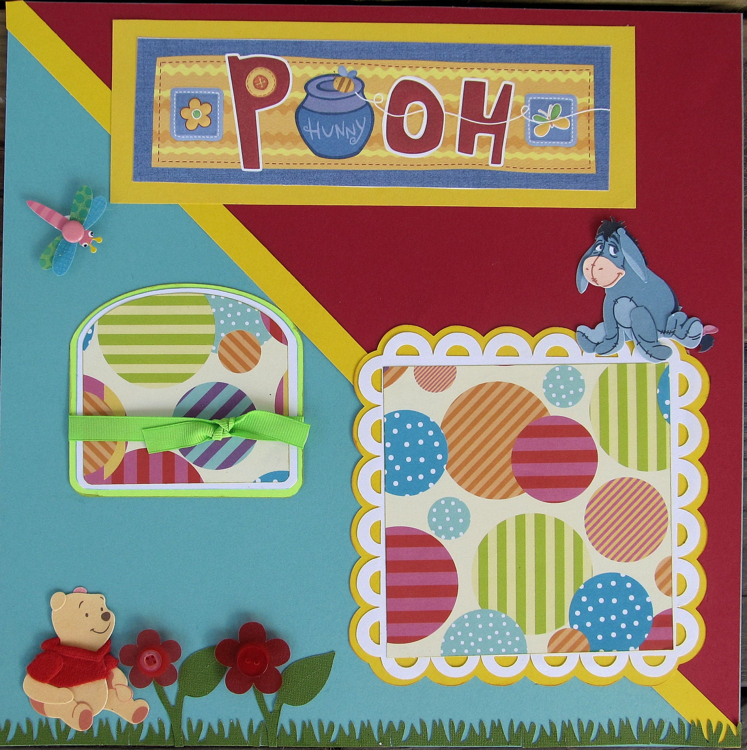 Baby Girl Or Boy Pooh Bear Scrapbook Pages Premade Kids