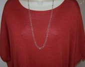 31 inch STERLING SILVER Lg oval link CHAIN necklace italian