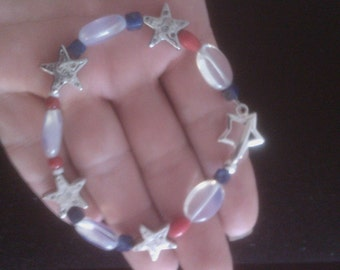 The Red the White and the blue, star bracelet.