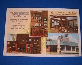 Atlantic City Linen Postcard Van Tassel Restaurant