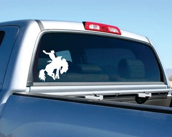 Rodeo Cowboy Car Decal  FREE SHIPPING