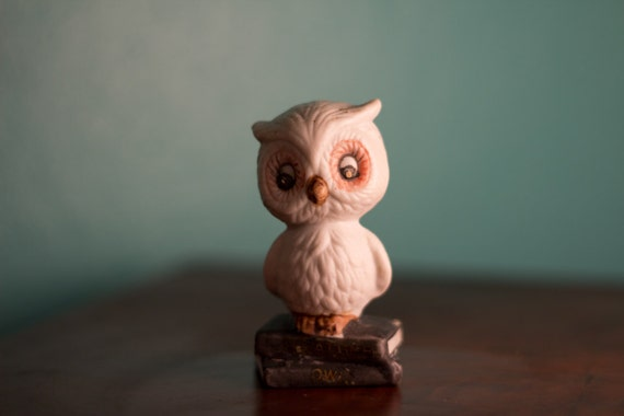 1970's Cute Little Book Owl