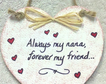 Nana Heart Plaque