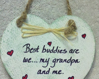 Grandpa Heart Plaque
