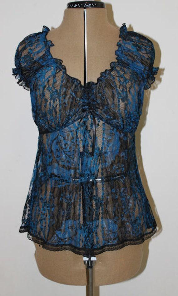 Lace camisole lingerie set