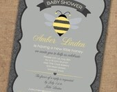 What will it BEE baby shower invitation - Printable