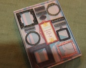 Metal Embellishment Frames and Family Set Scrapbooking Cardmaking