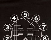 A 12AX7 Vacuum Tube Schematic Diagram on Your Shirt