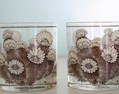 Vintage Floral, Woodsy Glasses (Set of 2)