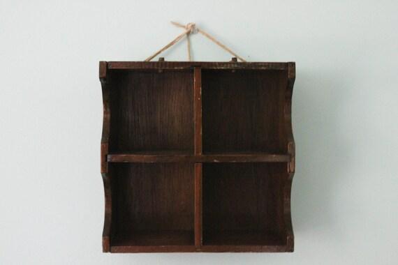 Square Wooden Four Square Shelf