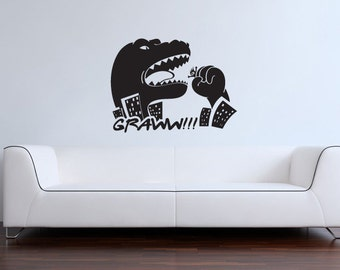GODZILLA Vinyl Wall Art/Decal T-Rex Dinosaur