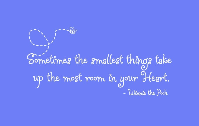 Winnie The Pooh Quote Sometimes The Smallest Things Take