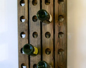 Wine Riddling Rack Antique European Style Winerack Walnut