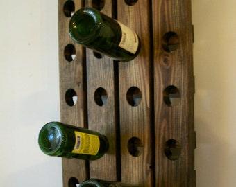 Wine Riddling Rack Antique Style Winerack Walnut