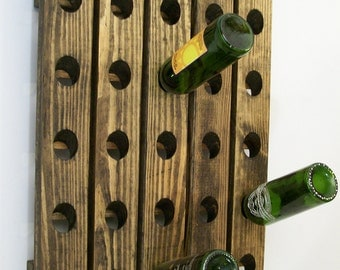 Wine Riddling Rack Hand Made Wood Choice of 3 Colors