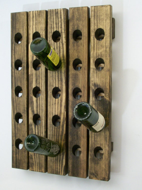 Riddling Wine Rack Handcrafted Wood Wall Hanging