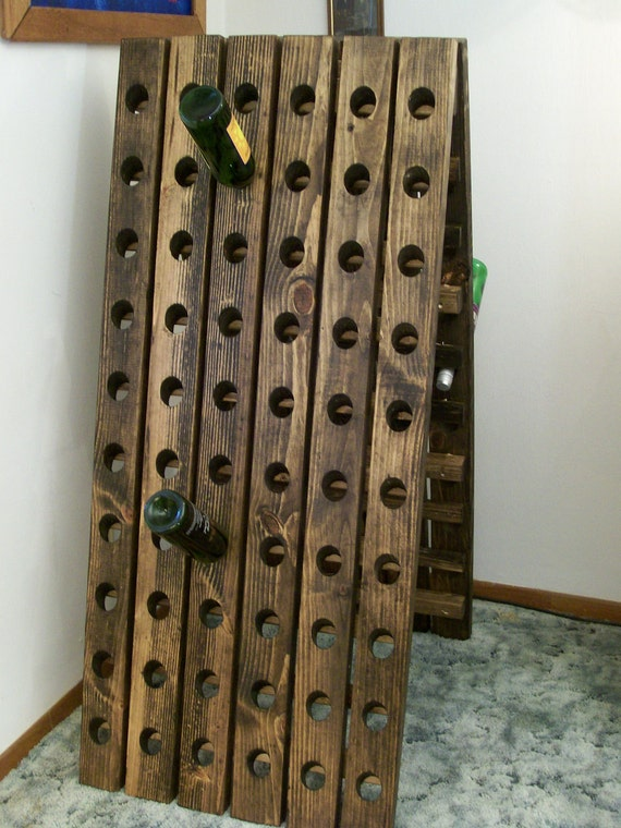 A-Frame Riddling Wine Rack 120 Bottle Winerack Standing Wine Rack from  Wood4Decor on Etsy Studio