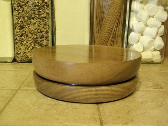 Walnut Rotating Cake Decorating Stand -Also works as a lazy susan!