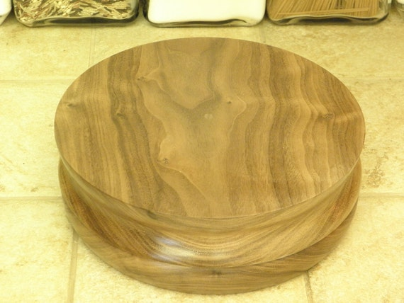 Cake Decorating Lazy Susan : Walnut Rotating Cake Decorating Stand Also works as a lazy