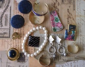 Jewelry Detash-- Inspiration Kit--   For  Mixed Media -  Collages