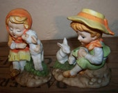 Lefton China Figurines Boy Girl China Figurines