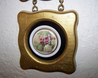 Porcelain Paintings Wall Hanging Gold Wall Decor