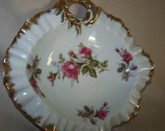 Rose Trinket Dish Rose Jewelry Tray Rose China Dish