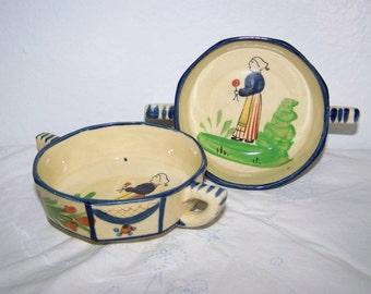 Oriental Bowls Handpainted Oriental Pottery Bowls