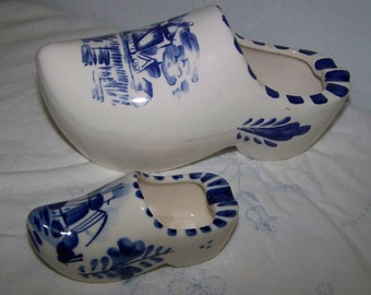 Blue Delft Dutch Shoes Ceramic Dutch Shoes