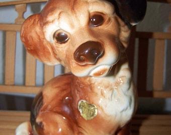 Royal Copley Dog Brown Puppy Figurine Large Royal Copley Dog