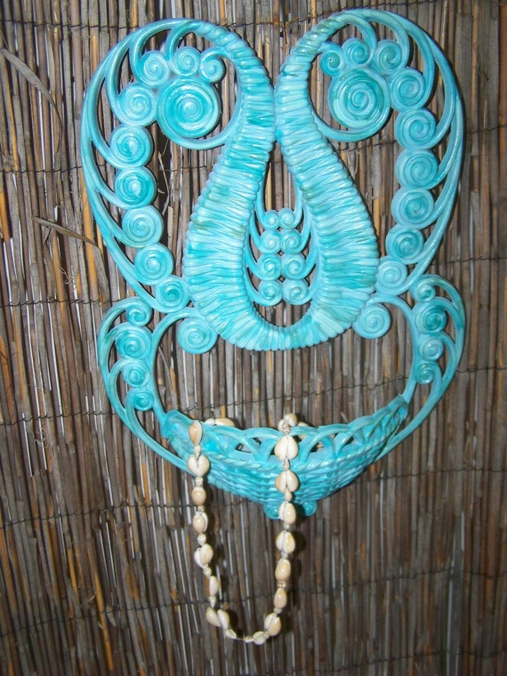 RESERVED Upcycled Turquoise Beach Decor