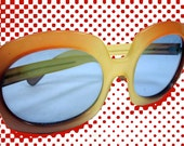 Super Fun Orange and Blue 1980s Round Lens Shades