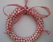Starlight Mint Holiday Wreath -- Red and Green Custom Design