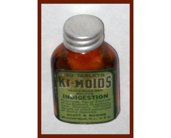 Vintage Adv, KI-MOIDS Indigestion Aid, Orig Label