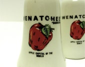 Wenatchee Washington Salt & Pepper Shakers