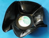 Upcycled Vinyl Sculpture Bowl No.3