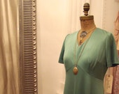 1970s Kelly Green Grecian Maxi Gown