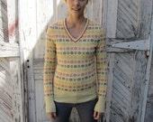 SALE: Vintage Preppy Tennis Sweater