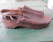 Vintage J.CREW Leather Clogs 7.5/8W