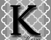 Personalized Custom Wall Art Print - Initial Monogram Name Baby Kids Children Family Pets Wedding
