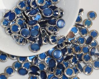 25 Royal Blue Pearl Snap 4 Part Prong Size 16