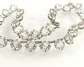 Art Deco Necklace Crystal Glass Open Back Silver Brilliant Clear Classic Bridal Vintage 1930s Jewelry