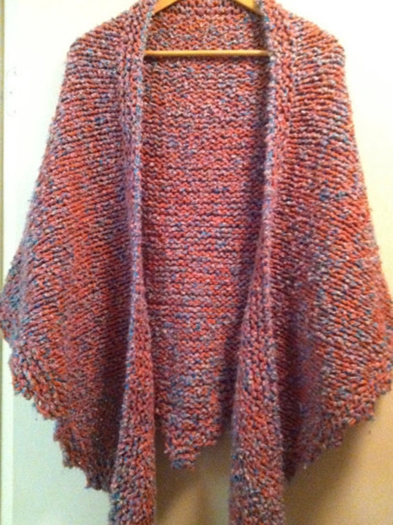 Hand-knitted women's shawl